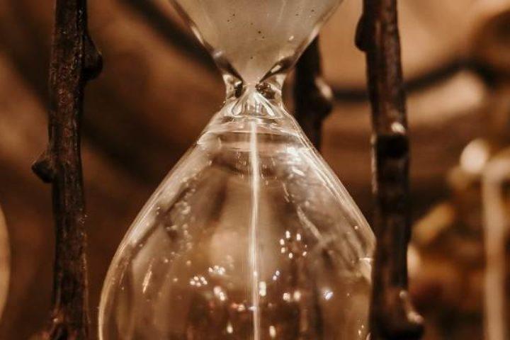 Clock and hourglass